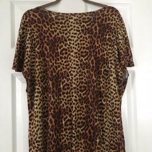 LuLaRoe Dresses - LulaRoe Maria Maxi Dress Sz L Leopard Print